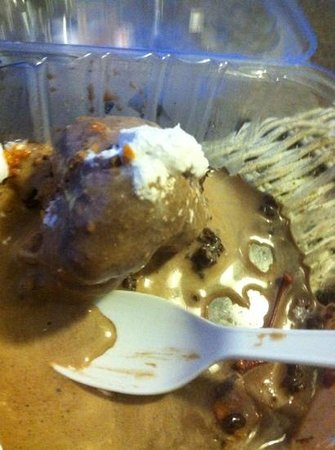 Build Your Own Cookie: fudgy brownie with chocolate ice cream and butterfinger topping.. well what's left of it!