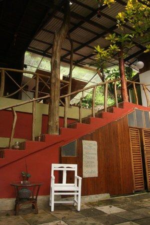 Hostel Plinio: stairwell to second floor.