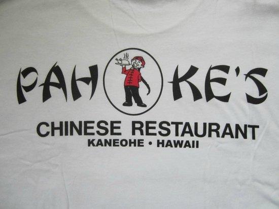 Pah Ke's Chinese Restaurant: Their T-shirt (back)