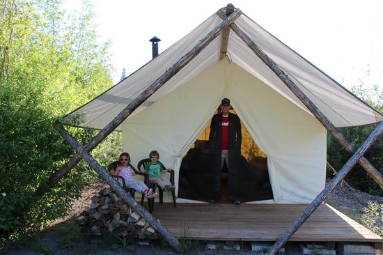 Moose Creek Ranch: Our tent!