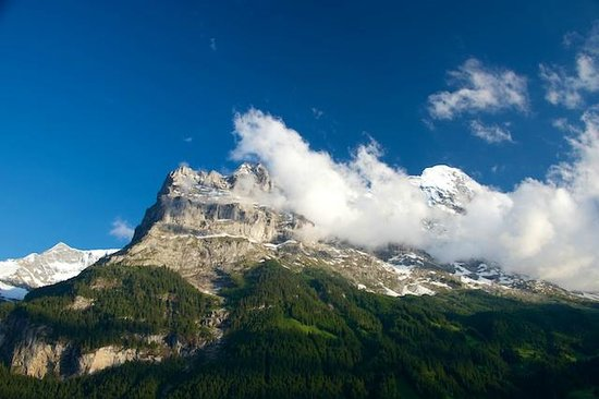 Hotel Spinne: The Eiger from our balcony.