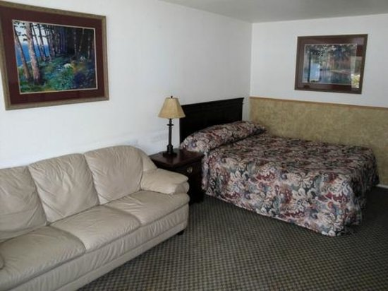 Skagit Motel: Room with one queen bed and sofa