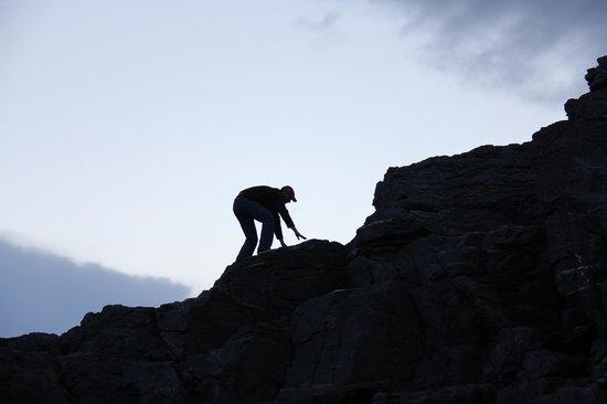 Banna Strand: I climb rocks.