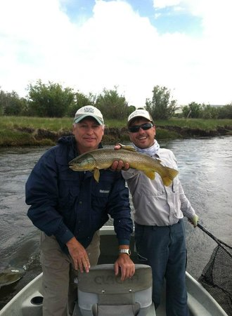 The Wandering Angler Day Tours: Marc and Bruce with a brown trout