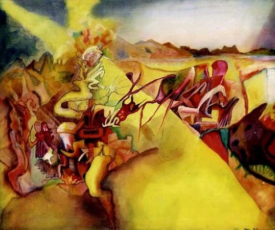 Bali Center for Artistic Creativity: Surrealist piece by Bruce Sherratt (BCAC Founder)