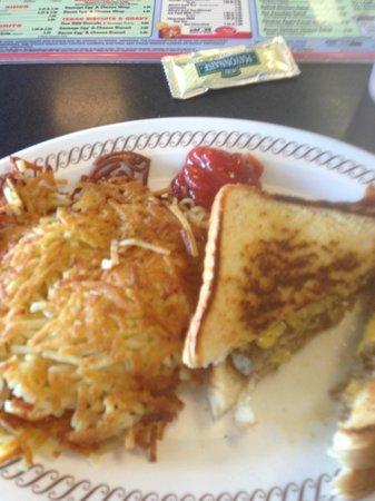Waffle House: Patty Melt w/ Hashbrowns
