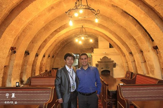 Cappadocia Palace: Bekie Kaynak and me in their special canteen