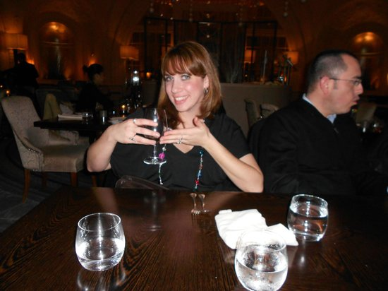 Hyatt at The Bellevue: Enjoying our dinner at Nineteen.