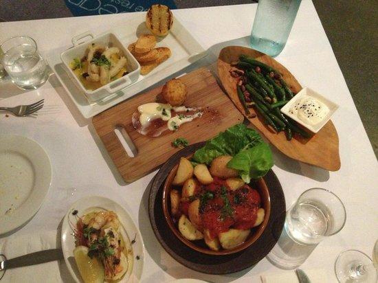 Seabean Tapas Bar Restaurant: Our tapas spread