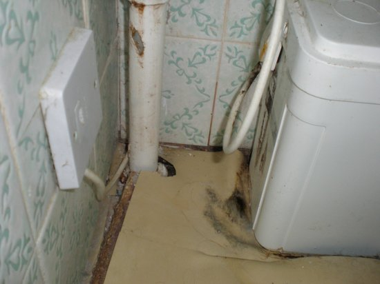 The Risboro Hotel: Floor around toilet