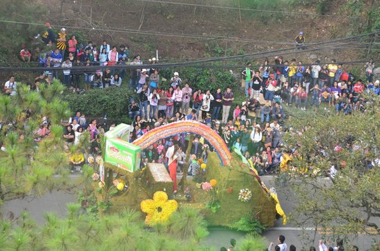 Hotel 45: Panagbenga 2013 Parade from our room