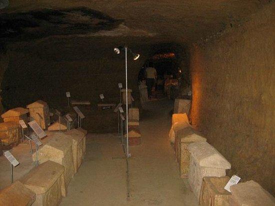 Museo Civico La Citta Sotterranea : sacrophags of the dead