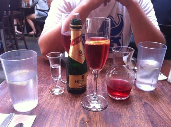 MoLe Restaurant: summer peach - $12 made 4 glasses