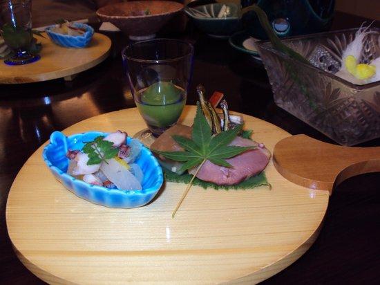 Nishiyama Ryokan: kaiseki dinner
