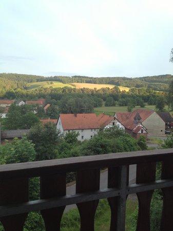 Landgasthof & Hotel Jossatal: Utsikt från balkongen