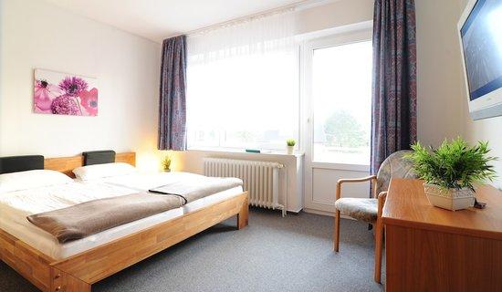 Pension Dünenschloss: Wohnbeispiel Doppelzimmer Standard mit Balkon