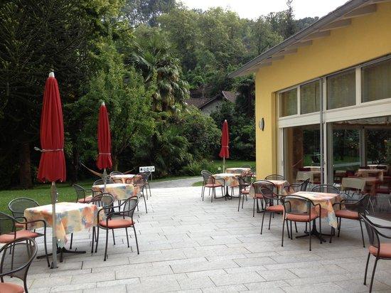 Casa Emmaus: The outdoor courtyard