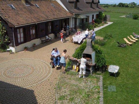 Vieille Ecluse : barbecue auquel nous avons eu accès