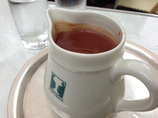 Cafe Les Deux Magots: hot choco 2