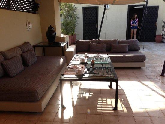 Riad Lotus Perle: terrasse