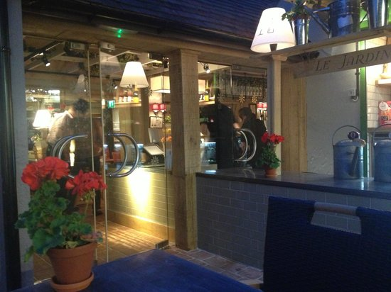 Coach and Horses: Back door from outside seating area