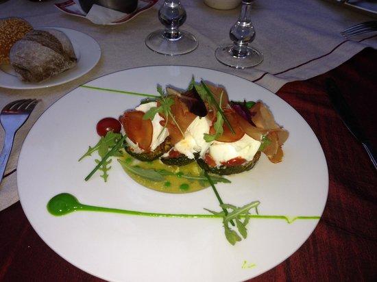 Restaurant of La Maison Arabe: entre mozzarella