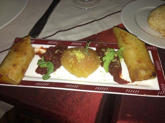 Restaurant of La Maison Arabe: garniture