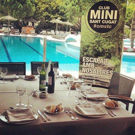 La Costa Golf & Beach Resort : Detalle de la mesa preparada para una comida de grupo