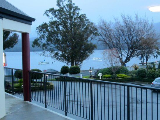 Radfords on the Lake : View from Room 11 on a rainy day