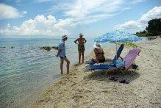 Kriopigi Hotel: Пляж дикий, но песчаный, после обеда в тени.