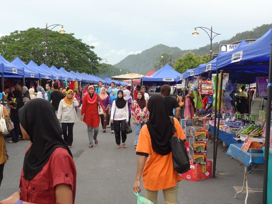 Makeshift Langkawi night market