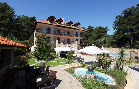 Glikadi Hotel: view from pool bar