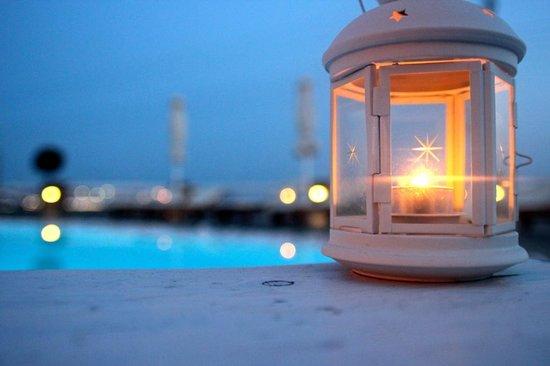 Rocabella Mykonos Art Hotel & SPA: Dinner by the pool