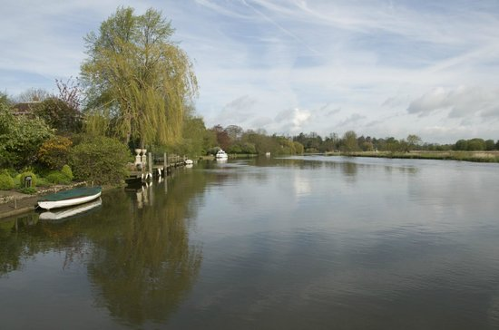 The Beetle & Wedge Boathouse: The Thames at The Beetle and Wedge