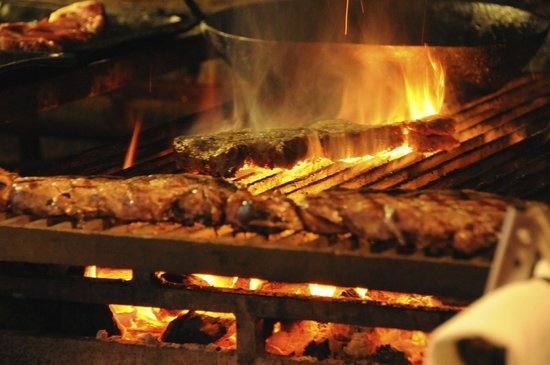 The Beetle & Wedge Boathouse: The wood fired grill