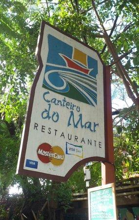 Canteiro do Mar Restaurant Sign