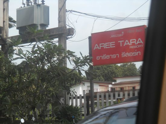 Aree Tara Resort: billboard of hotel