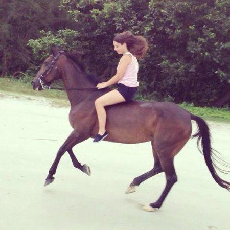 Island Horses : Me, riding on the beach
