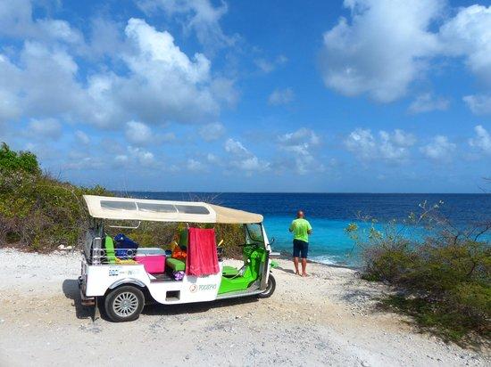 Bon Tuk Eco Tours Bonaire: at one of the snorkel spots