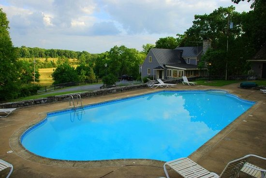 The Inn at Vaucluse Spring: Vaucluse Pool overlooking Meadow