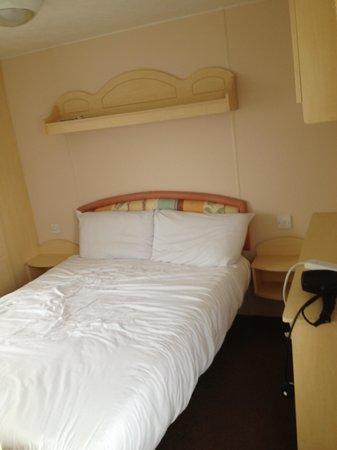 Martello Beach Holiday Park - Park Resorts : Main bedroom, wardrobe is next to bed