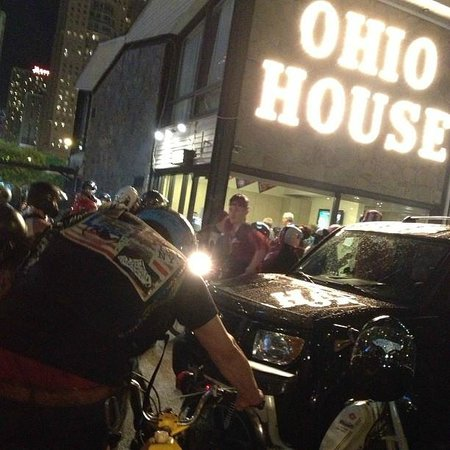 Ohio House Motel: Moped rally at Ohio House