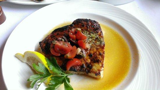 The Palm Boston : Blackened swordfish