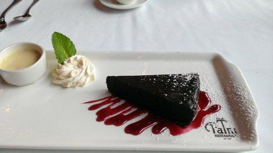 The Palm Boston : Flourless chocolate cake - Gluten free