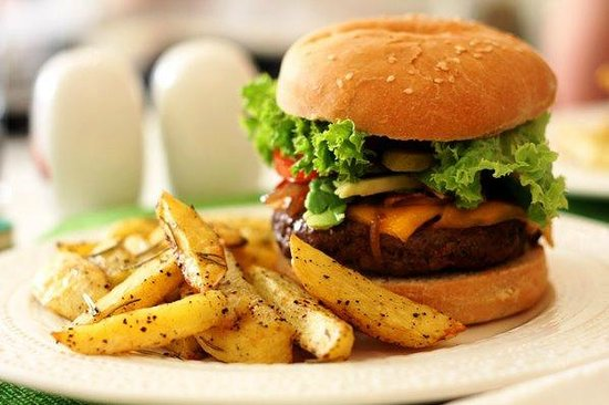 Simbio: best burgers in town, always on the 4th of july. two week special, two, three times a year.