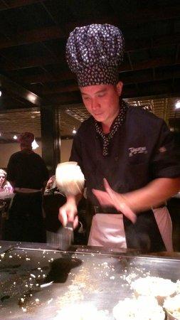 Takaoka Of Japan: Our wonderful chef, Lee! (Preparing fried rice)