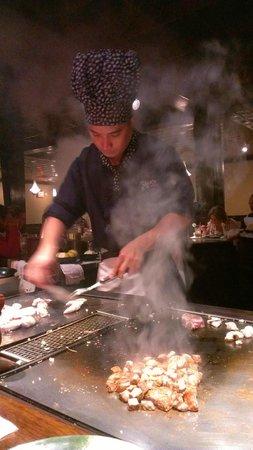 Takaoka Of Japan: Lee preparing our entrees