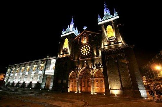 Church of the Virgin of the Holy Water (Nuestra Señora del Agua Santa) : Catedral Baños de Agua Santa, Ecuador