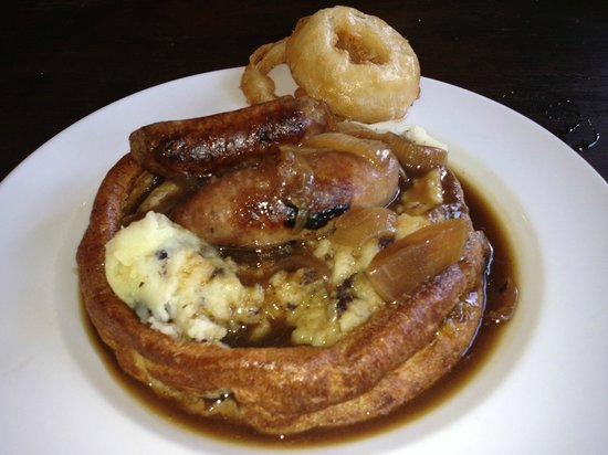 Ye Olde Nags Head: Venison sausage and black pudding mash potato