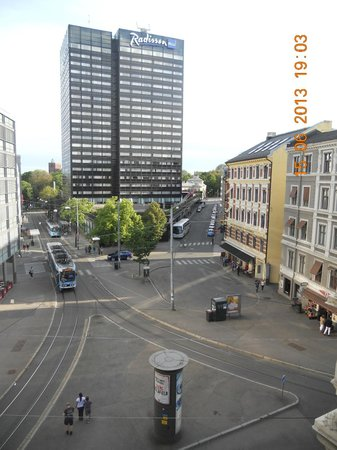 Scandic Holberg: vista dalla 410. a dx si raggiunge il centro